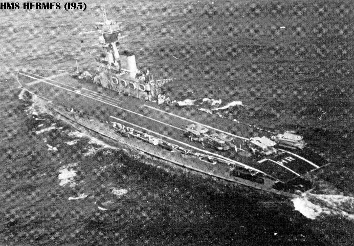Hermes Aircraft Carrier in Action