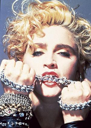 Madonna in chains.